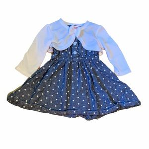 3/$25 Baby Denim Dress Outfit